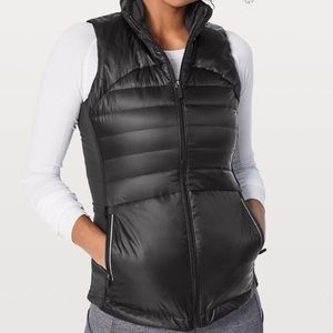 Lululemon Down for a Run Vest II Black size 8 NWT
